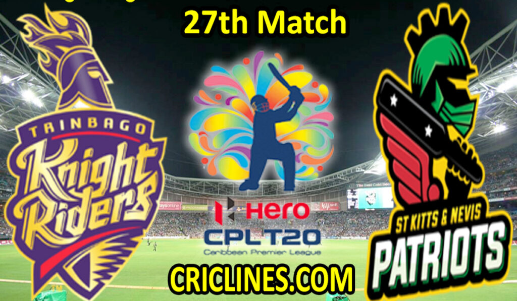 Today Match Prediction-TKR vs SNP-CPL T20 2021-27th Match-Who Will Win