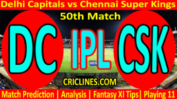 Today Match Prediction-DC vs CSK-IPL T20 2021-50th Match-Who Will Win