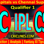 Today Match Prediction-DC vs CSK-IPL T20 2021-Qualifier 1-Who Will Win