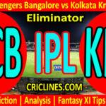Today Match Prediction-RCB vs KKR-IPL T20 2021-Eliminator-Who Will Win