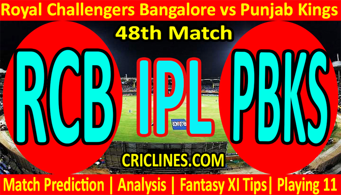 Today Match Prediction-RCB vs PBKS-IPL T20 2021-48th Match-Who Will Win