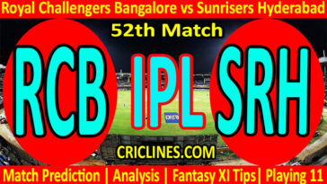 Today Match Prediction-RCB vs SRH-IPL T20 2021-52nd Match-Who Will Win