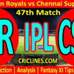 Today Match Prediction-Rajasthan Royals vs Chennai Super Kings-IPL T20 2021-47th Match-Who Will Win