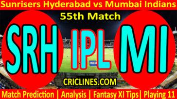 Today Match Prediction-SRH vs MI-IPL T20 2021-55th Match-Who Will Win