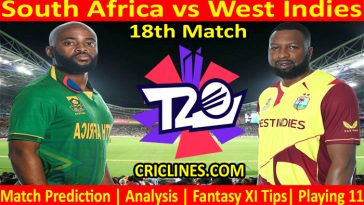 Today Match Prediction-South Africa vs West Indies-WTC 21-18th Match-Who Will Win