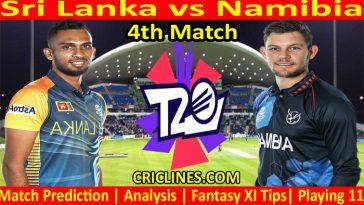 Today Match Prediction-Sri Lanka vs Namibia-WTC 21-4th Match-Who Will Win