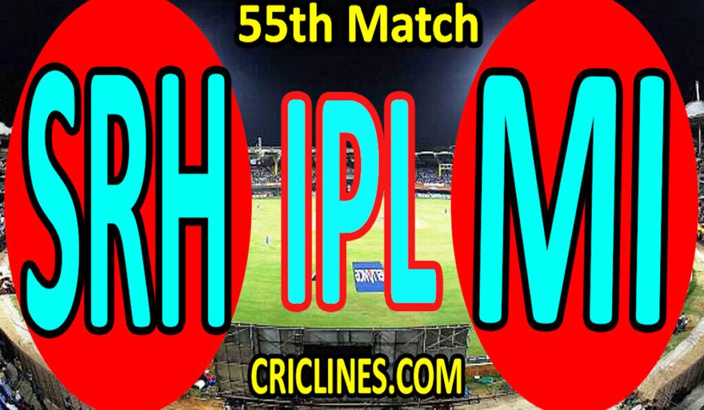 Today Match Prediction-Sunrisers Hyderabad vs Mumbai Indians-IPL T20 2021-55th Match-Who Will Win